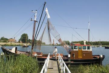 Vintage fishing ship