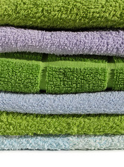 Terry cloth towels pile