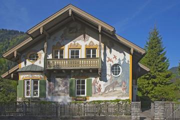 La maison du petit chaperon rouge à Oberammergau