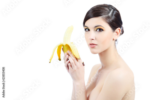eating banana
