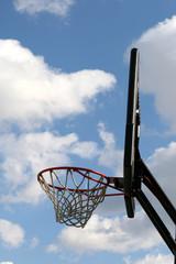 Outdoor basketball hoop