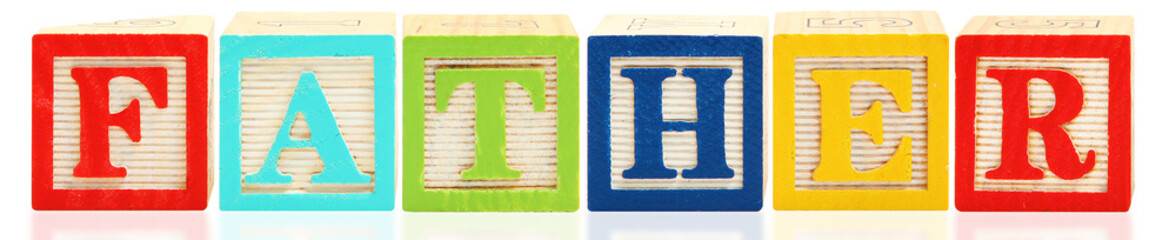 Alphabet Blocks FATHER