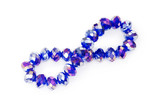 Purple bracelet isolated on the white background