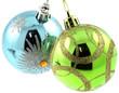 boules à suspendre décoration sapin de Noël, fond blanc
