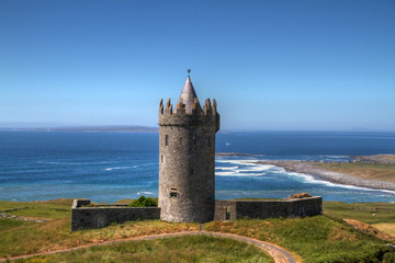 Doonagore castle in Ireland