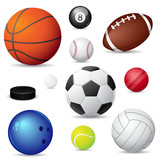 Fototapety Vector illustration of  sport balls