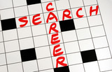 Write the words Career Search on a crossword puzzle