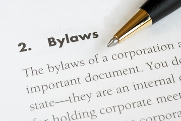 Definition of the bylaws of a corporation