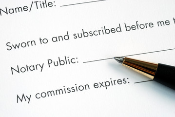 The paper is notarized by the Notary Public