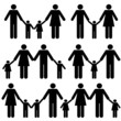 Mother, father and children family