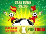 Spain Versus Portugal Soccer Game poster
