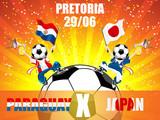Paraguay Versus japan Soccer Game. poster