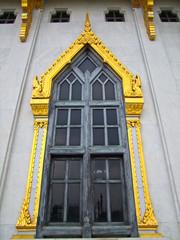 Window,Gold,Chapel,Thailand,Frame