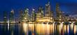 Quadro skyline von singapur