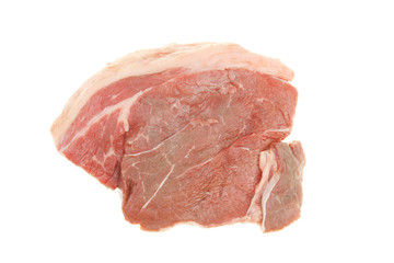 Raw braising steak