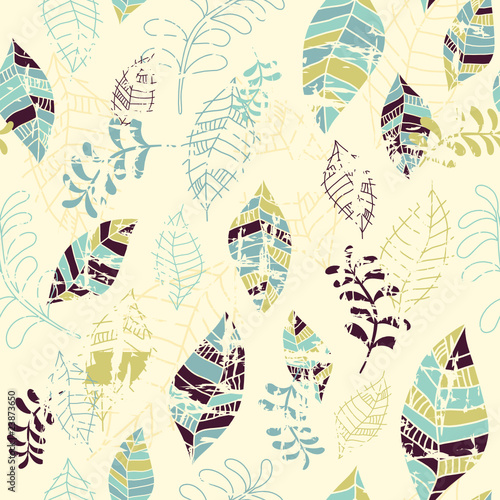 seamless pattern with leafs - 23873650