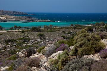 Greek coast on Crete island