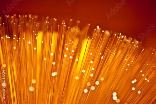 Leinwandbild Motiv Abstract fibre optic glow.