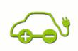 e-car, elektroauto, isoliert
