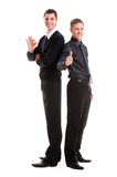two prosperous young businessmen poster
