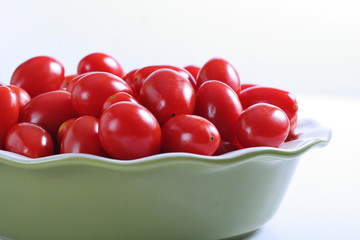 fresh grape tomatoes in a bowl