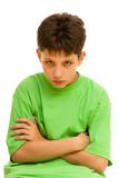 Portrét přemýšlivý kluk