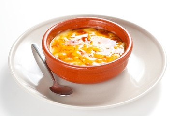 crema catalana delicious typical Spanish dessert