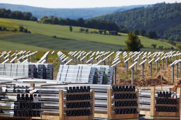 photovoltaik power plant building site 04