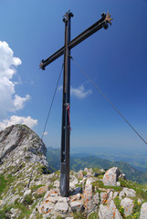 A cross in the mountains