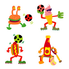 Fastfood Football characters