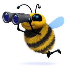 3d Binoculars Bee
