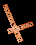 Password and login poster