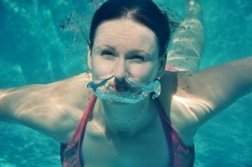 plongeant femme