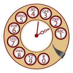 the telephone clock