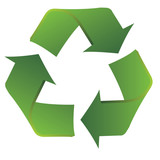 Recycle symbol with smooth fluid lines poster
