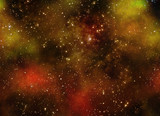 starry deep outer space nebual and galaxy poster