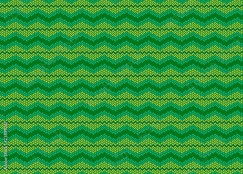 A woolen yarn design green