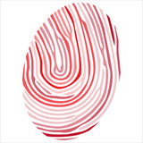 Finger print isolated on the white background  vector
