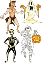 Halloween monsters costumes