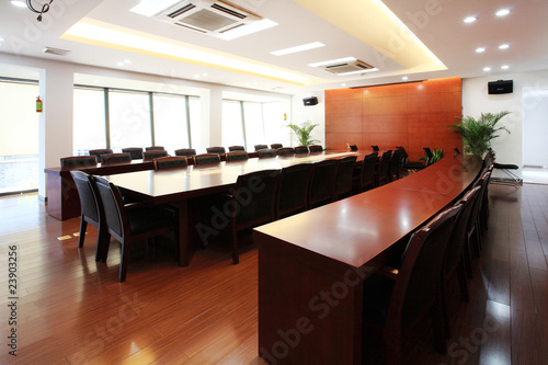 the closeup of Modern city meeting room