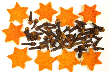 Orange peels and cloves