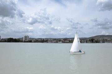 Sailing ship on the lake Balaton