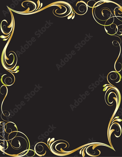 golden floral frame