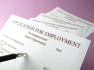 Formularios de solicitud de empleo
