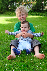 boy with little brother