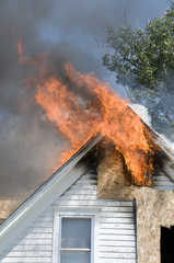 attic fire in old house