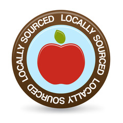 Locally Sourced Food Sticker