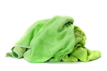 green towel