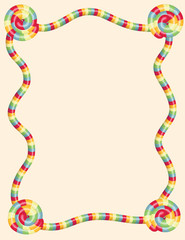 Colorful twisted candy border