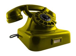 Altes Telefon knallgelb